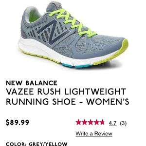 New Balance Vazee Rush Lightweight Running Shoe